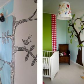 muurschildering-babykamer