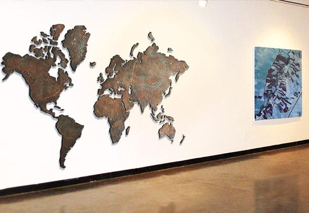 Wereldkaarten kunst