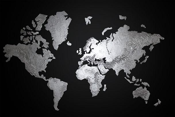 wereldkaart-zilver