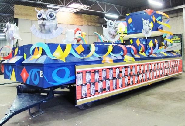 Bouwen-carnavalwagen