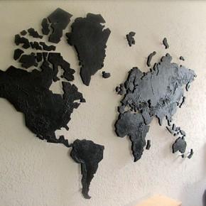 Wereldkaart deco