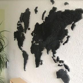 Wereldkaart decoratief
