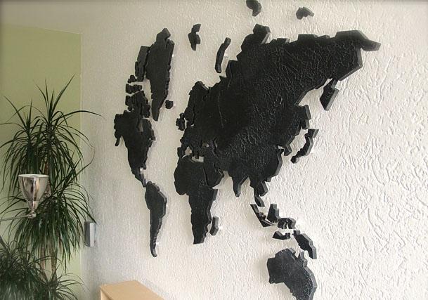 Wanddecoratie Wereldkaart Metaal.Worldofart Wereldkaart Van Offerbeek Art Graphics