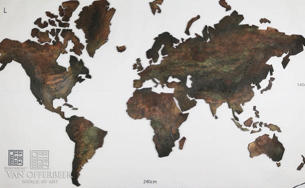 Artwork Wereldkaart