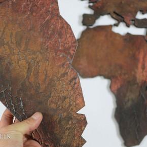 Brons wereldkaart
