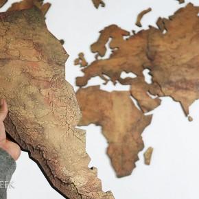 Bronzen wereldkaart