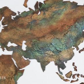 Wereldkaart-decoratie