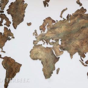 decoratieve wereldkaart