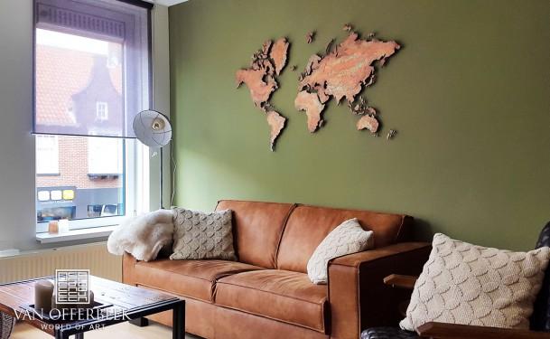 koper wereldkaart