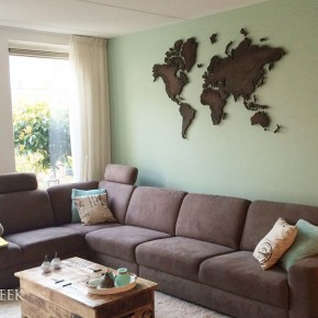 wereldkaart decoratie