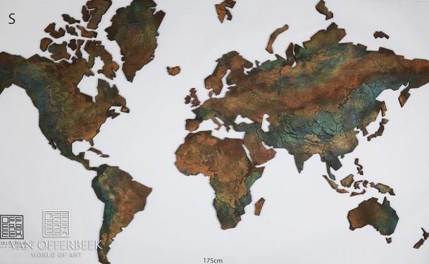 wereldkaart geschilderd 1