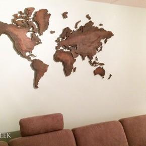 wereldkaart koper