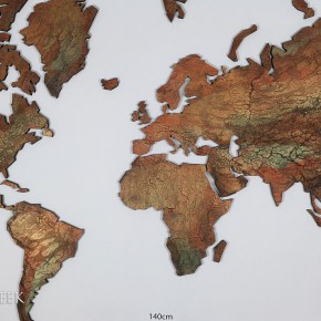 wereldkaart koper en goud