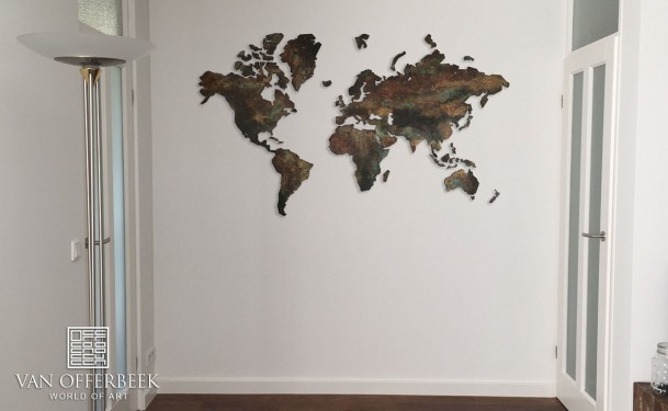 wereldkaart kunst