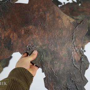 wereldkaart kunst kunstwerk
