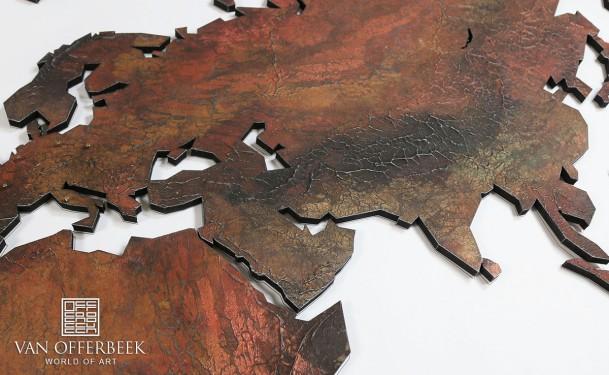 wereldkaart kunstwerk