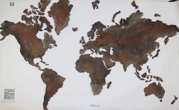 wereldkaart kuntswerk