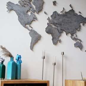 wereldkaart licht grijs