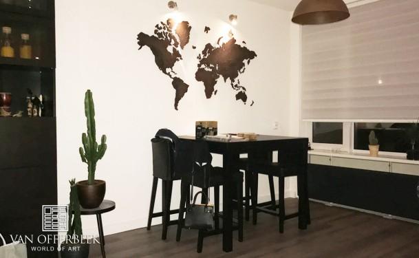 wereldkaart muurdecoratie