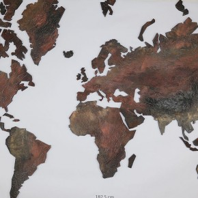 wereldkaart steen structuur