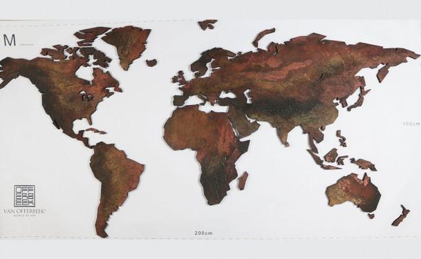 wereldkaart wanddecoratie
