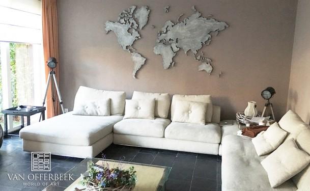 wereldkaart wit grijs