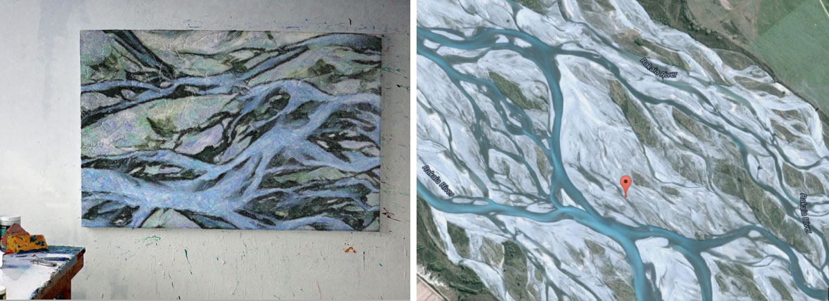 google earth paintings